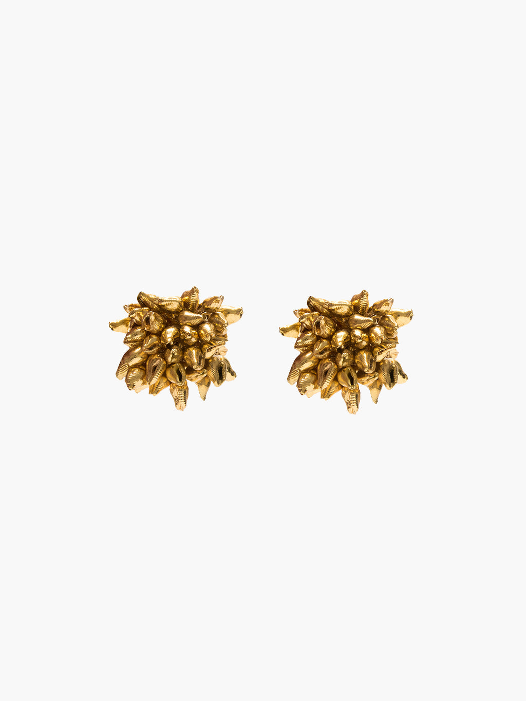 Seashell Stud Earrings | Gold