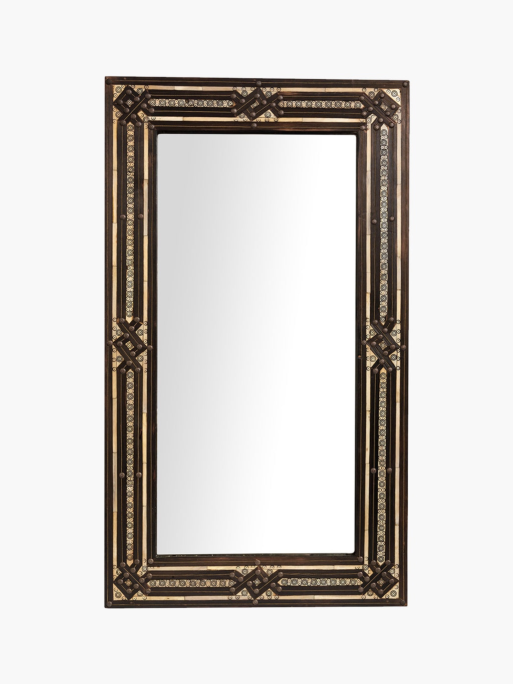 Studded Rectangular Moroccan Mirror