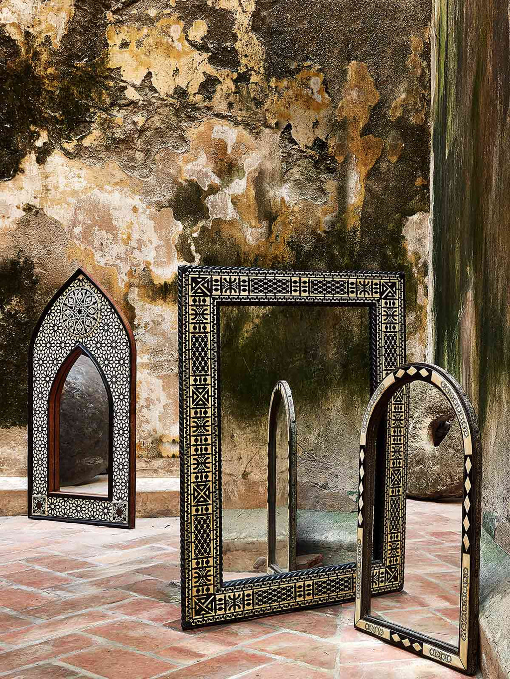 Traditional Arch Shaped Moroccan Mirror