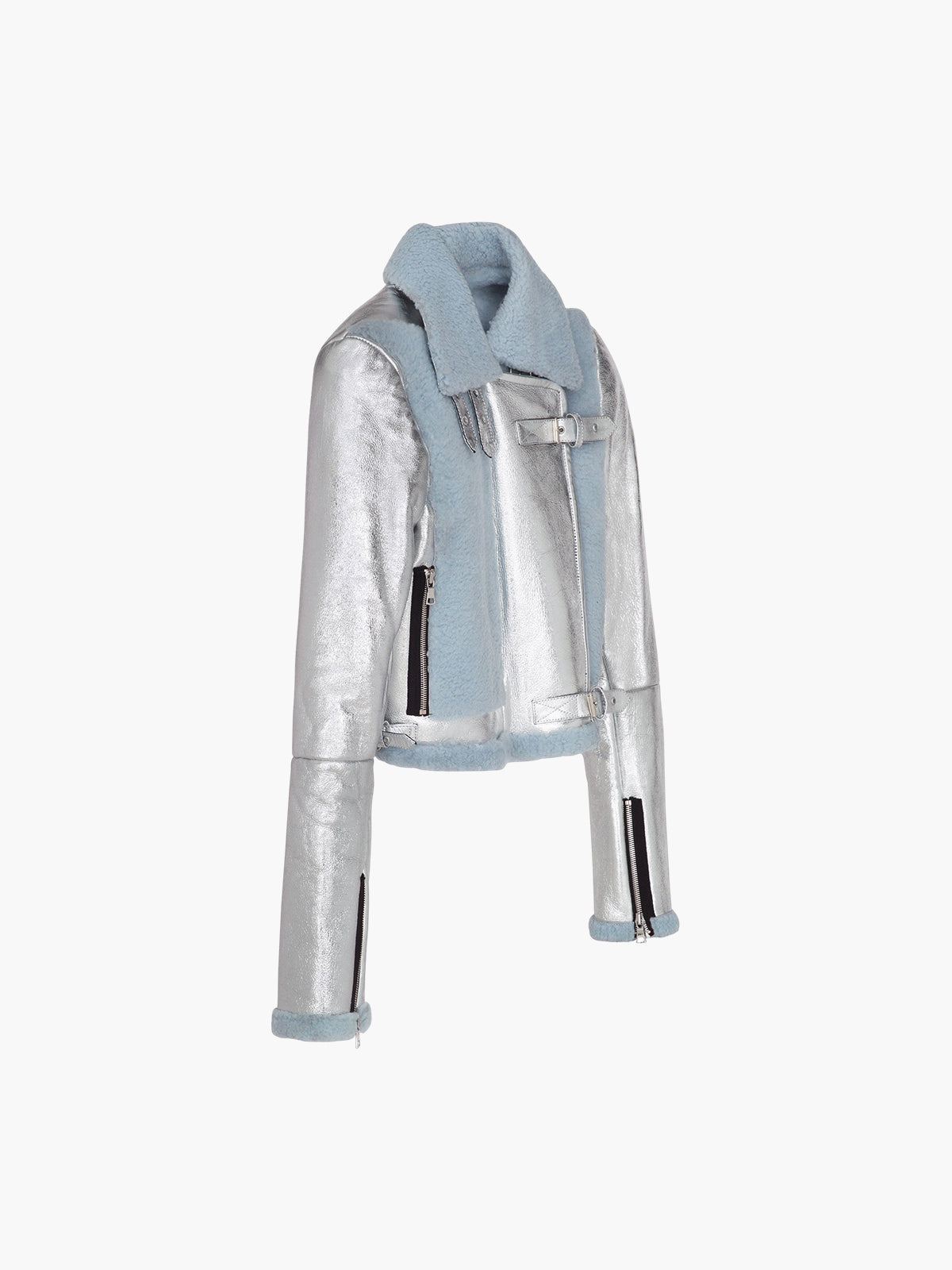Alanis Jacket | Silver Light Blue