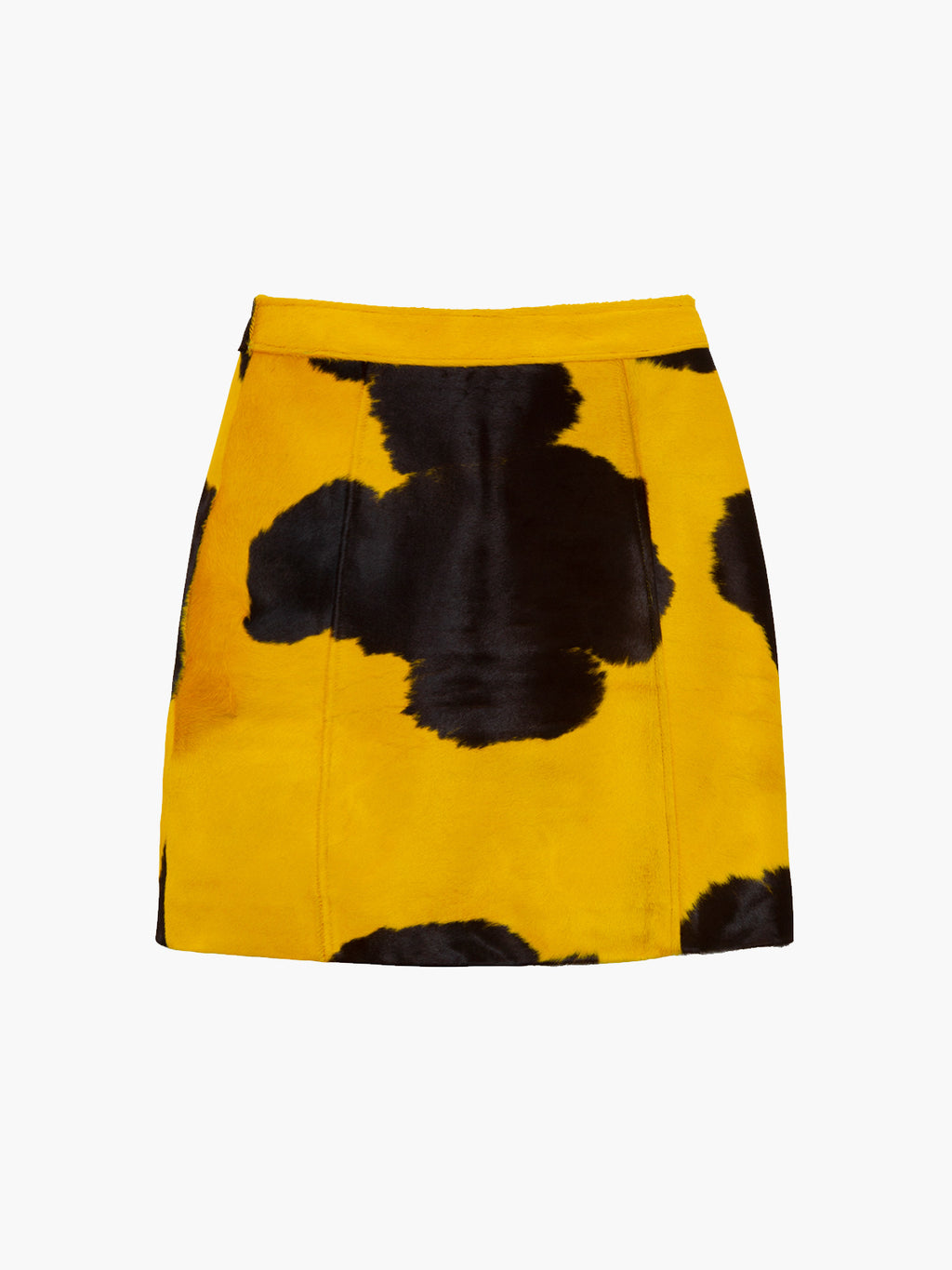 Eartha Skirt | Neon Yellow Black