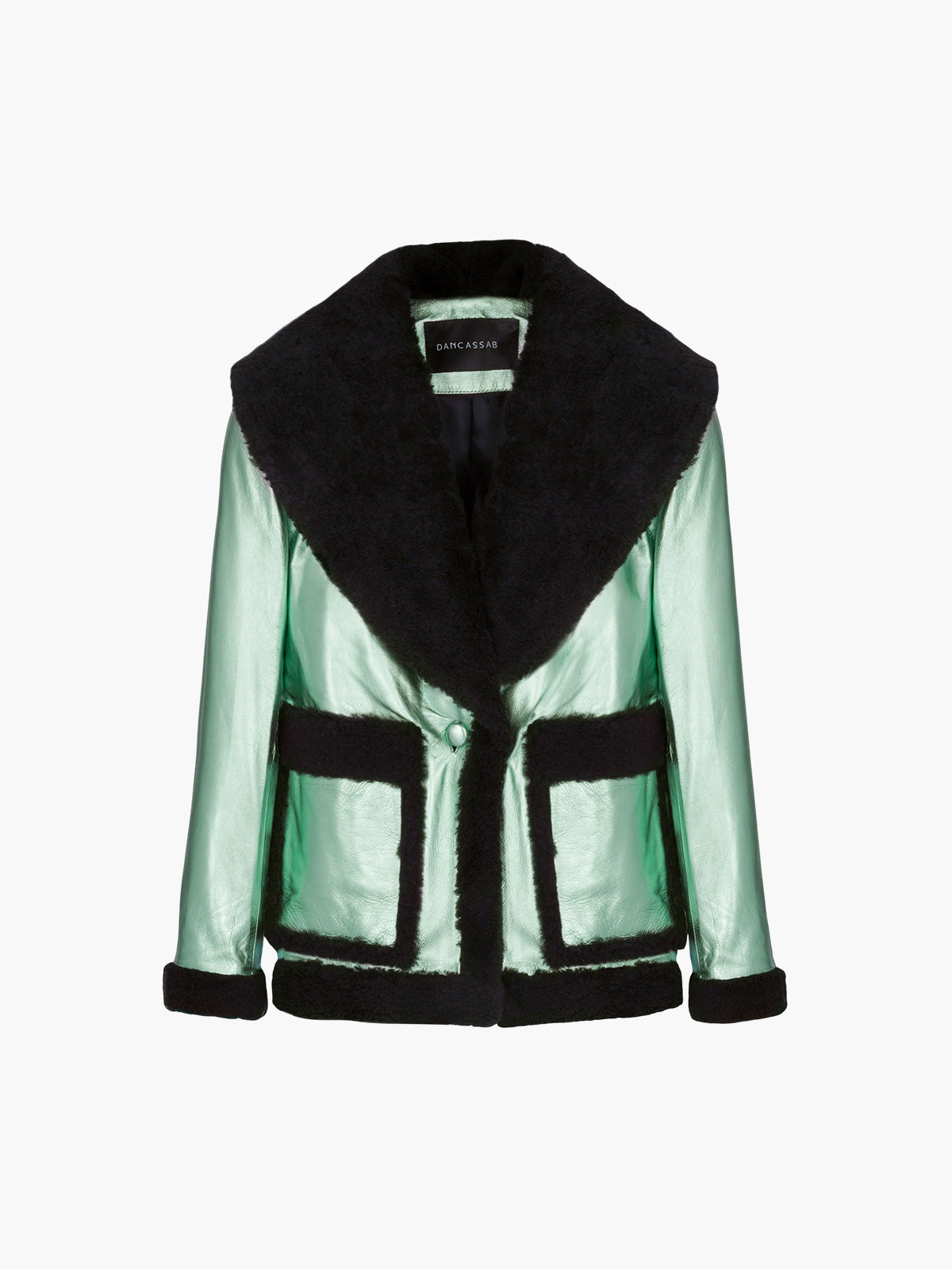 Floyd Jacket | Metallic Mint Green Black