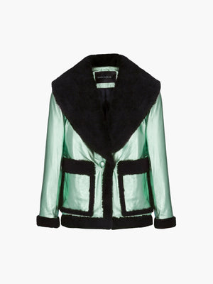 Floyd Jacket | Metallic Mint Green Black Floyd Jacket | Metallic Mint Green Black