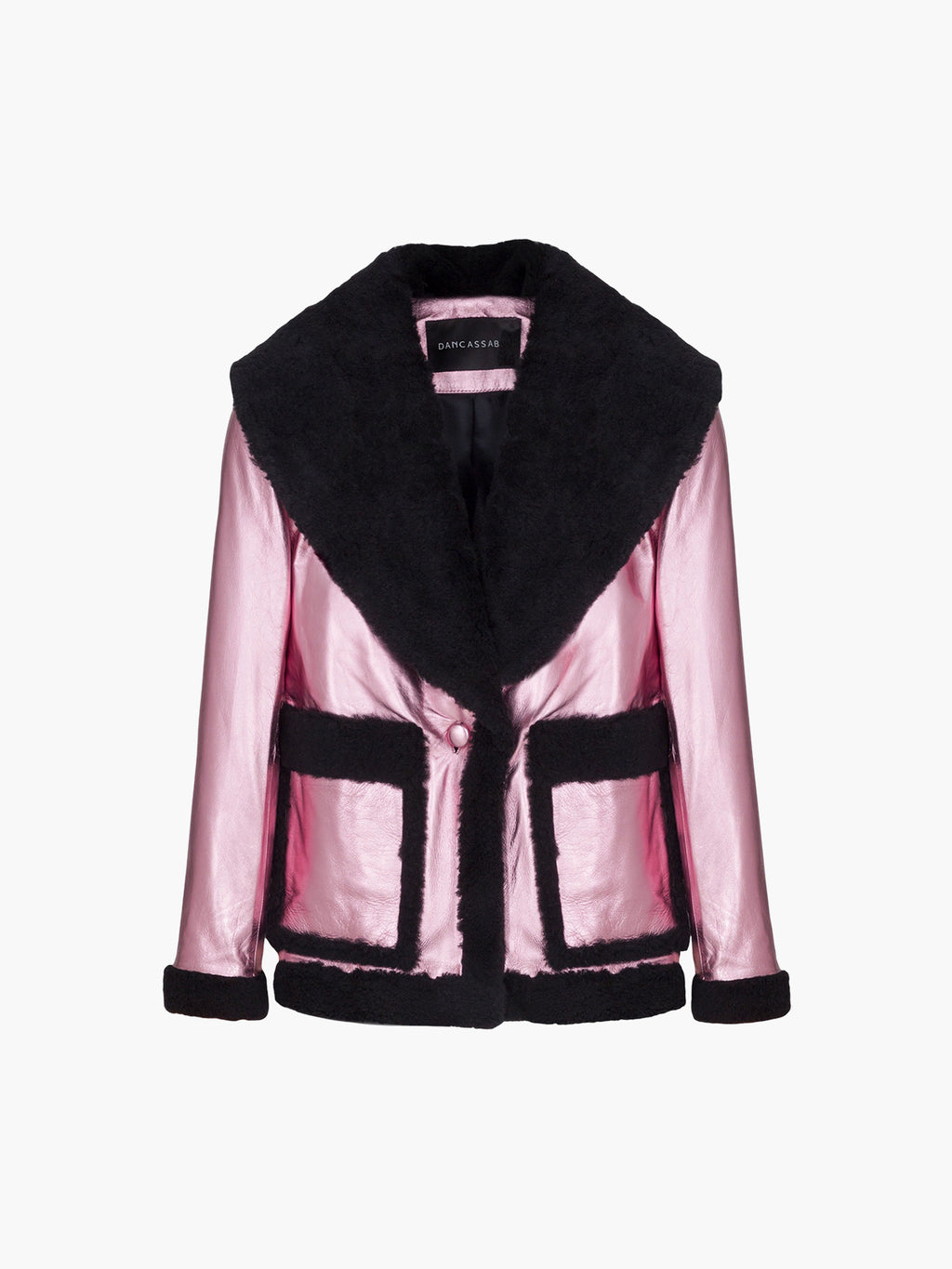 Floyd Jacket | Metallic Light Pink Black