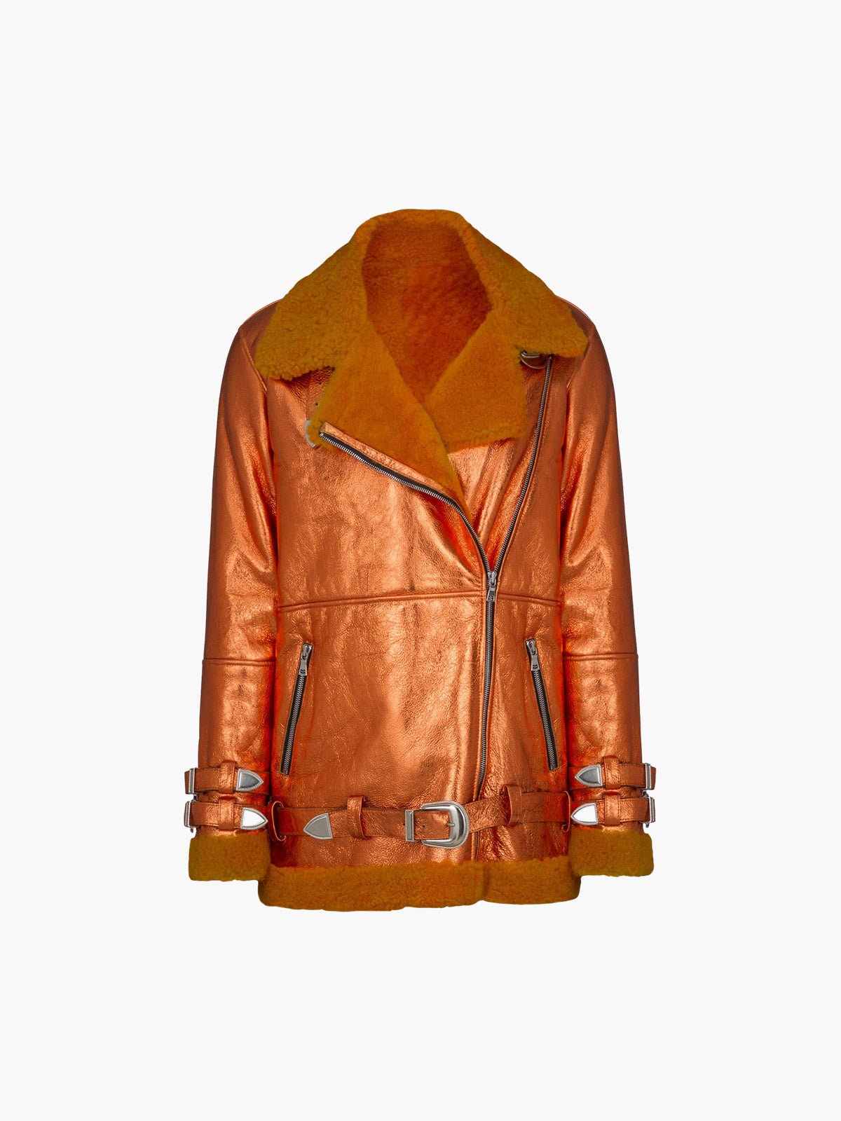 Wonder Jacket | Metallic Orange