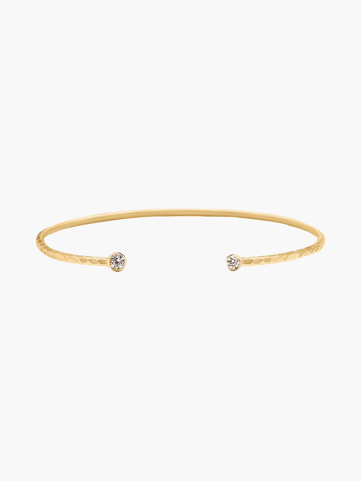 Double Diamond Open Cuff | Hammered