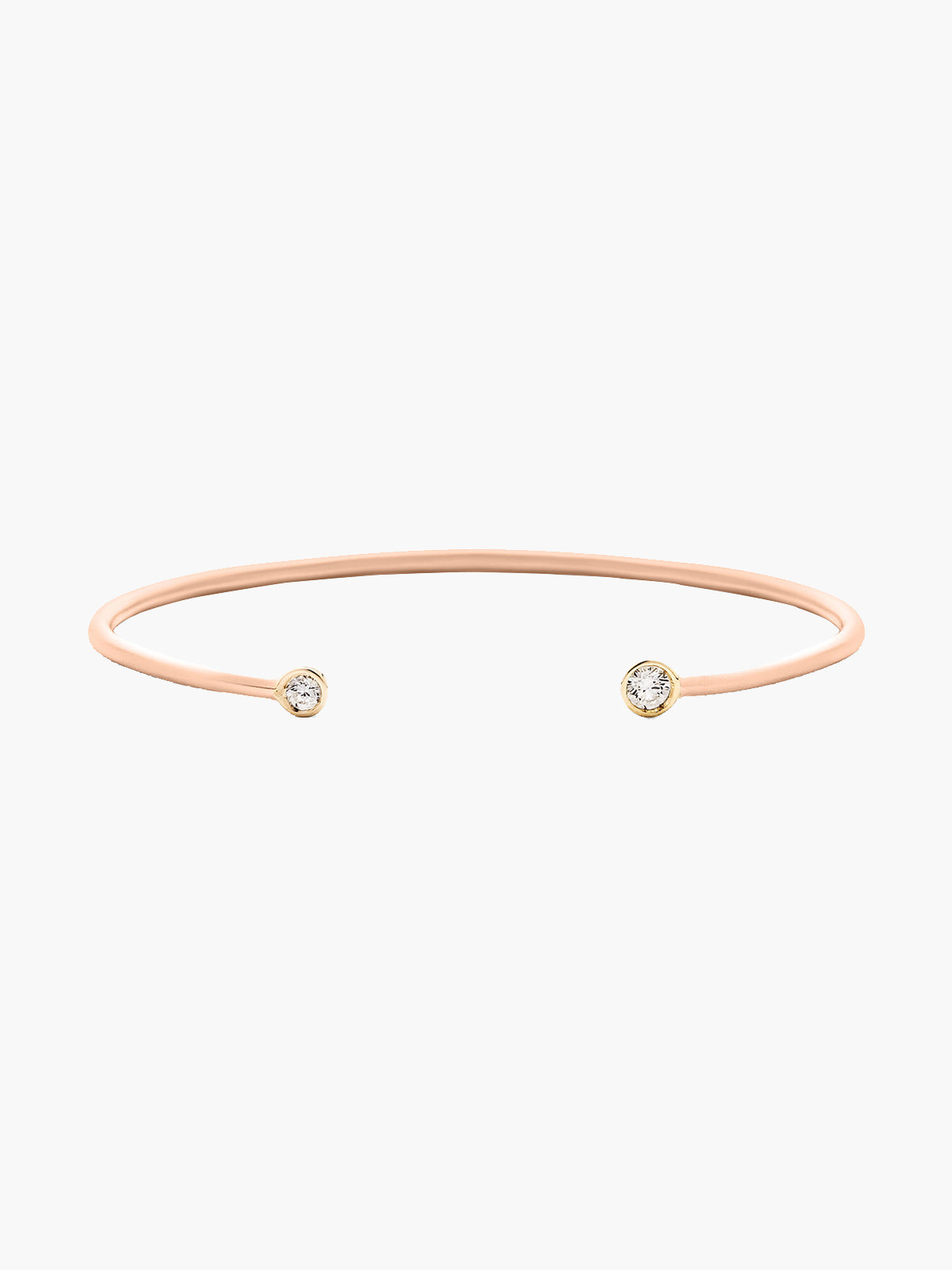 Double Diamond Open Cuff Rose Gold Matte Double Diamond Open Cuff Rose Gold Matte