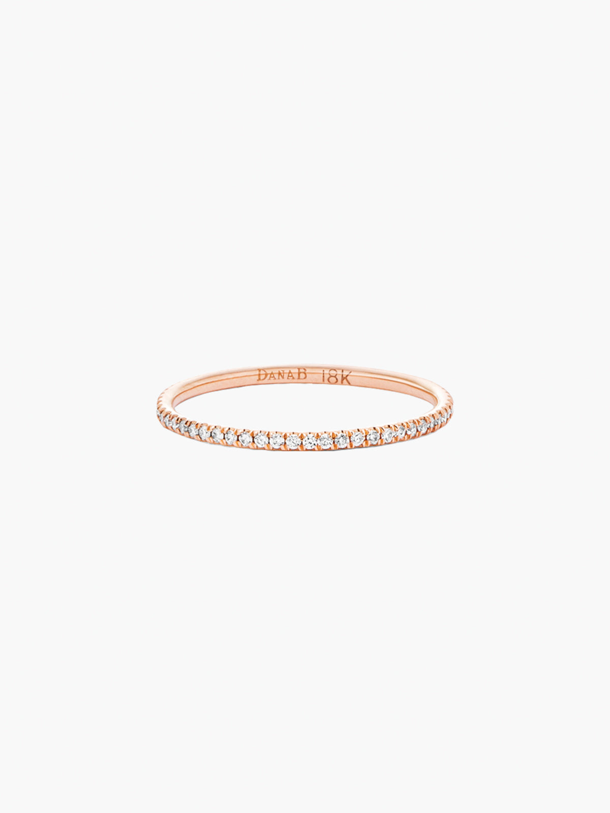 Tiny Eternity Band Rose Gold