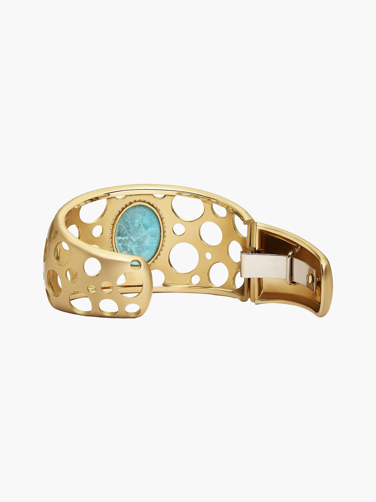 Turquoise Click Hinged Cuff Turquoise Click Hinged Cuff