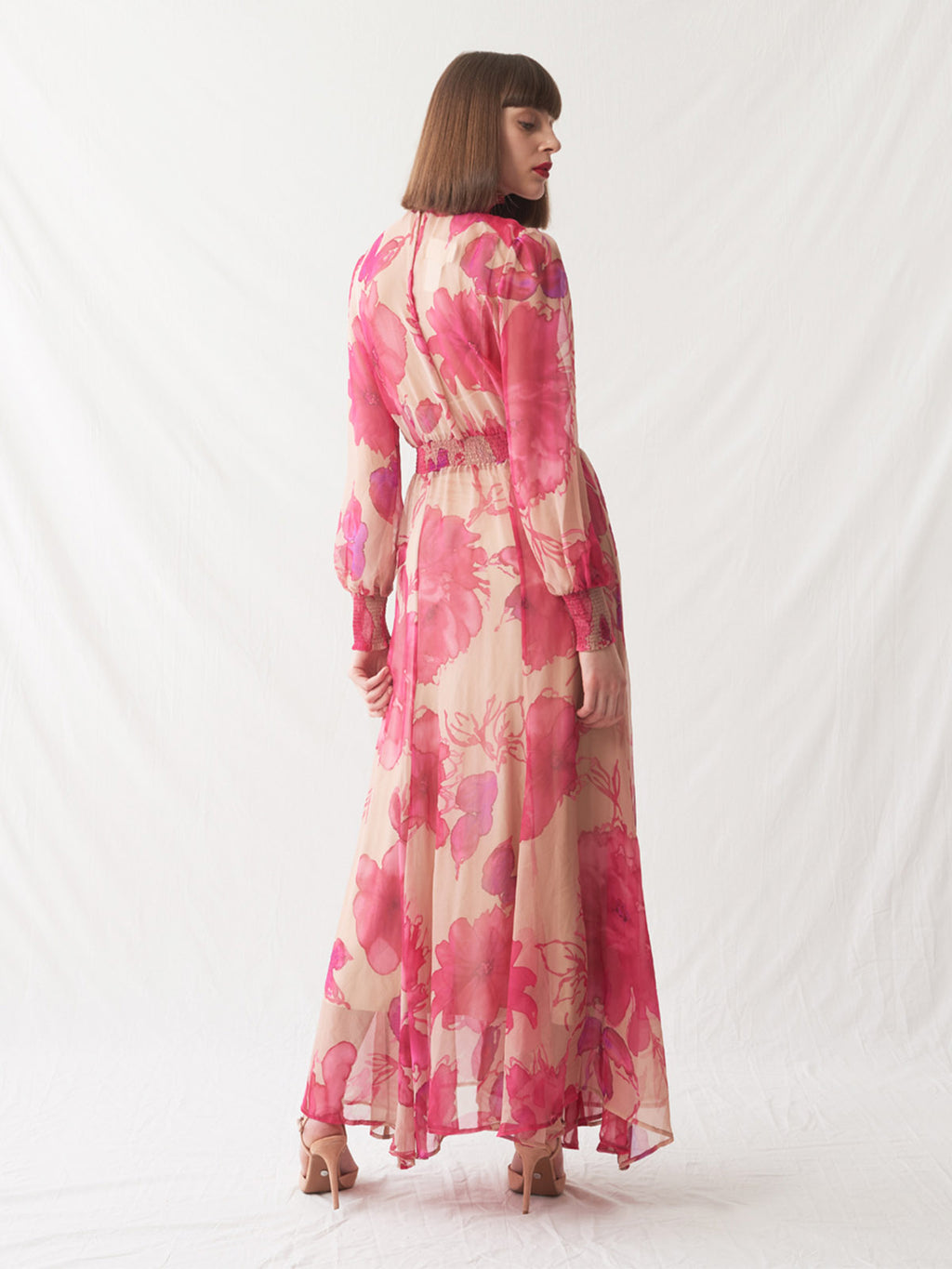 Clio Dress | Pink Floral