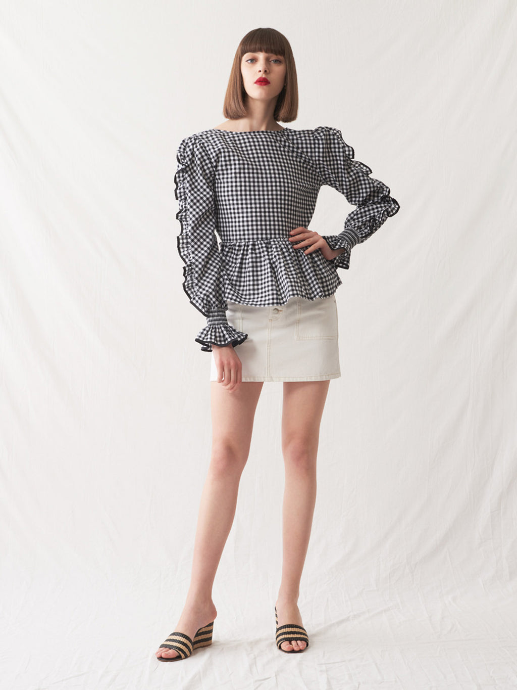 Marmara Blouse | Gingham