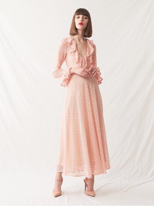 Salome Dress | Peach