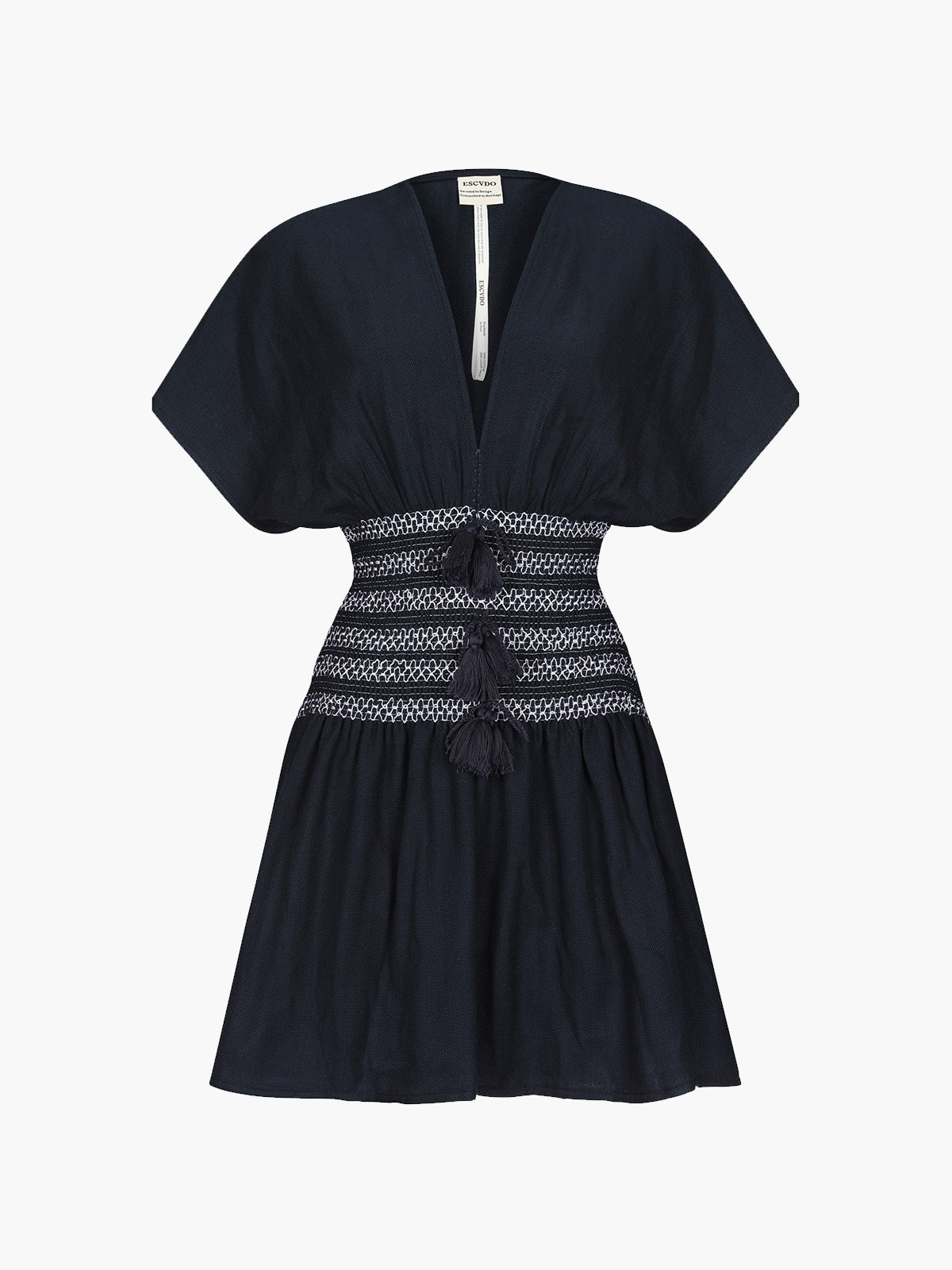 Sara Handwoven Mini Dress | Navy