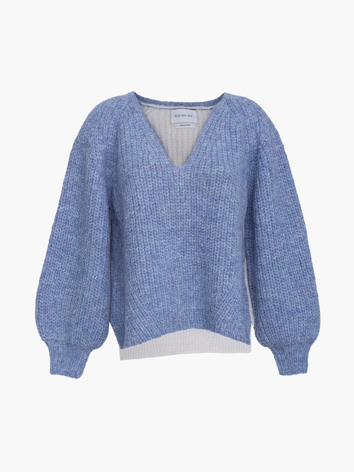 Tess Sweater | Cloud Blue/Ivory Combo
