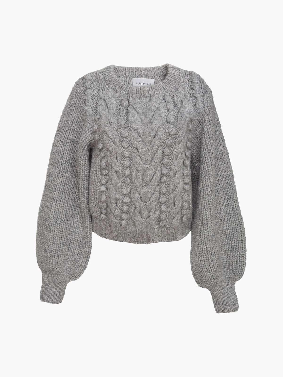 Charlotte Sweater | Pale Grey Melange