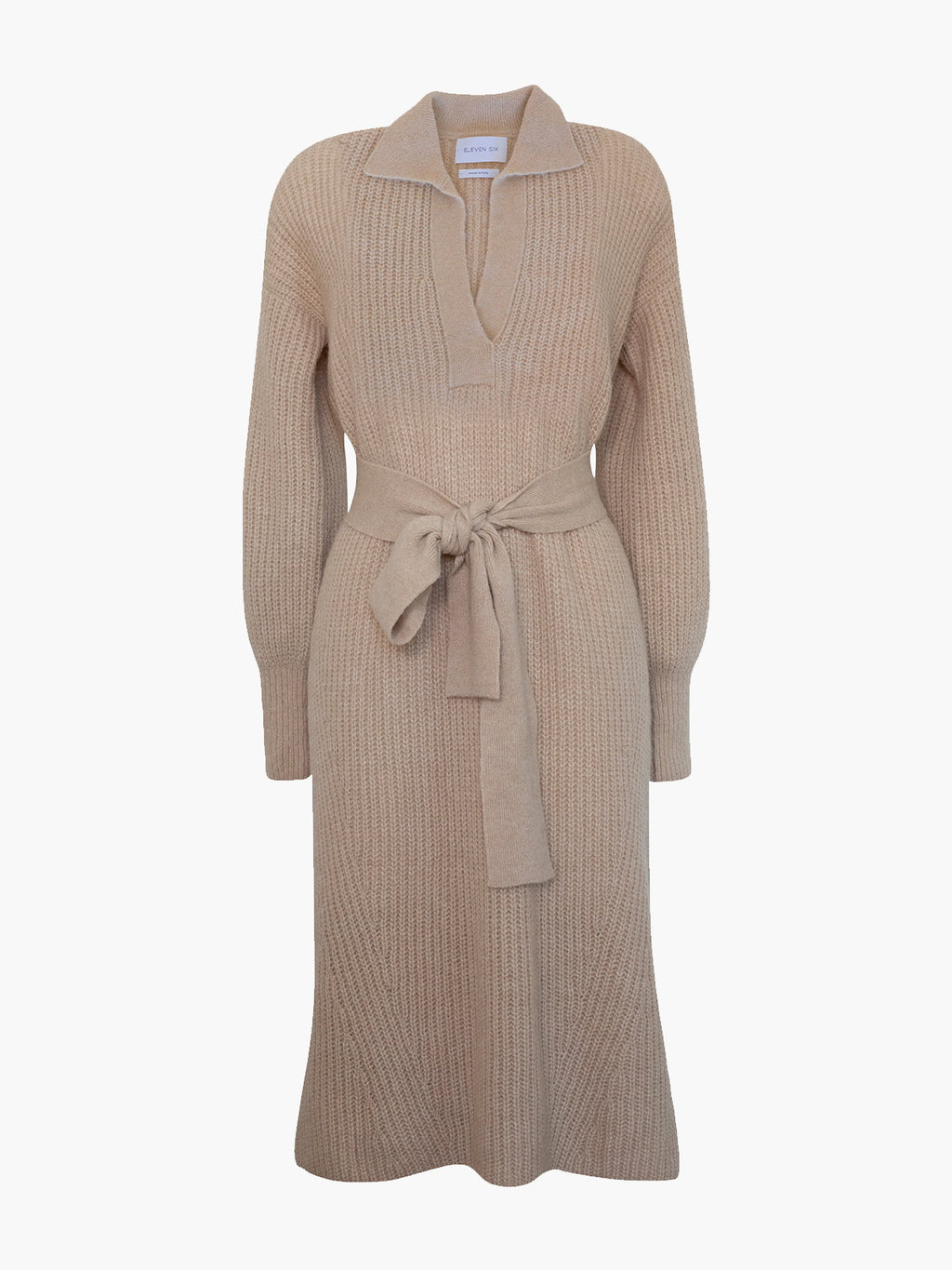 Jada Sweater Dress | Pale Camel