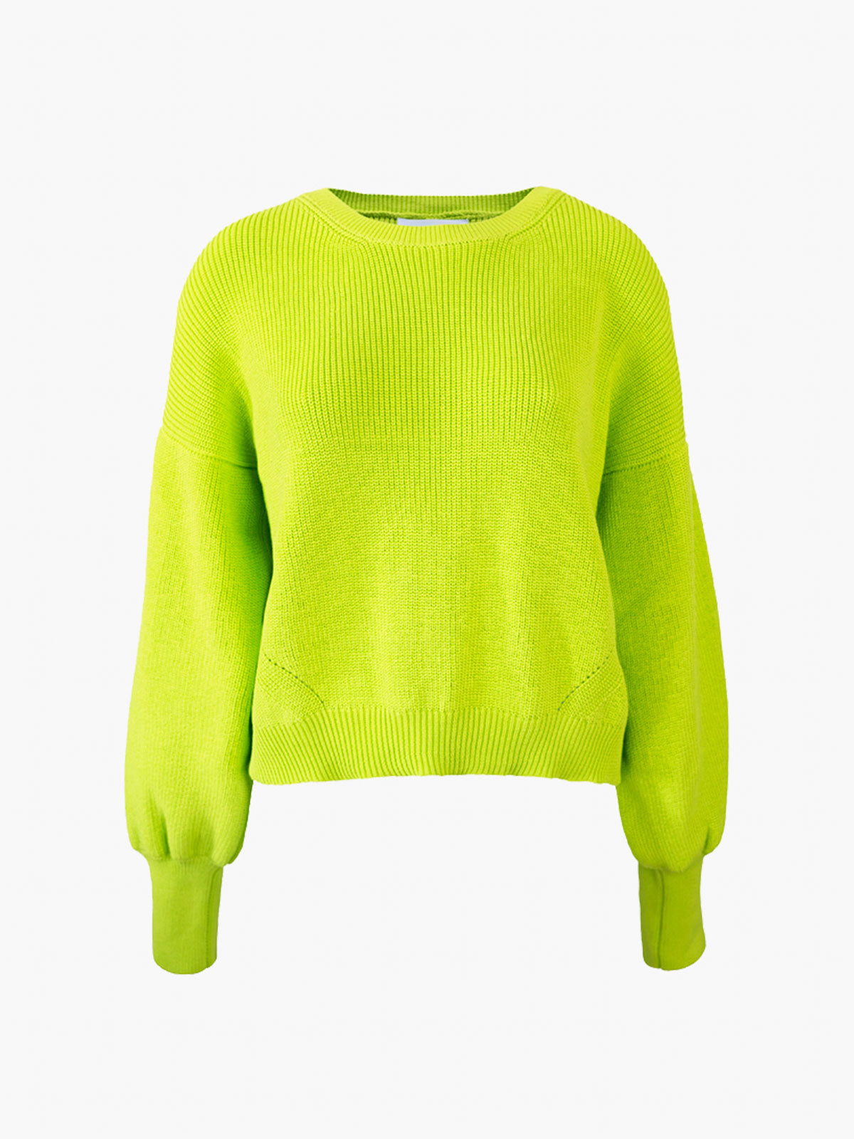 Layla Crew Sweater | Neon Lime