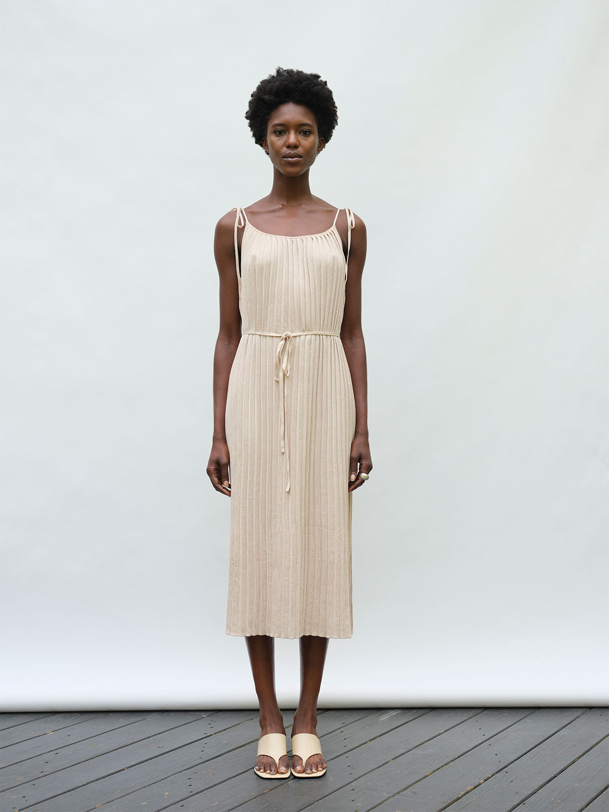 Simone Dress | Wheat