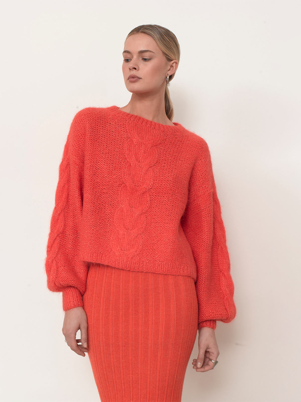 Sophia Sweater | Hot Coral
