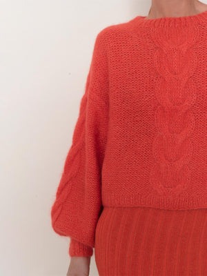 Sophia Sweater | Hot Coral Sophia Sweater | Hot Coral