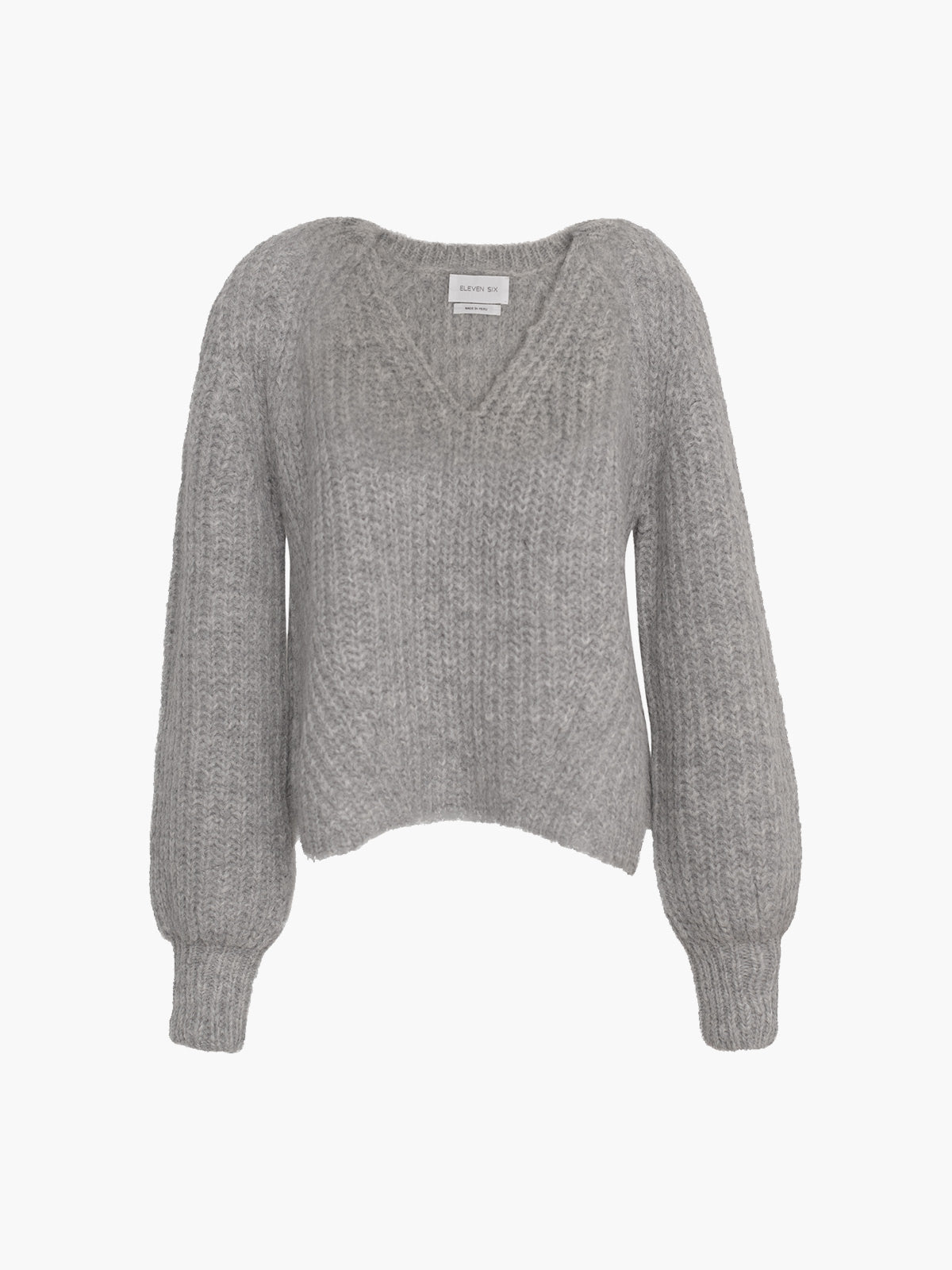 Tess Sweater | Pale Grey Melange Tess Sweater | Pale Grey Melange