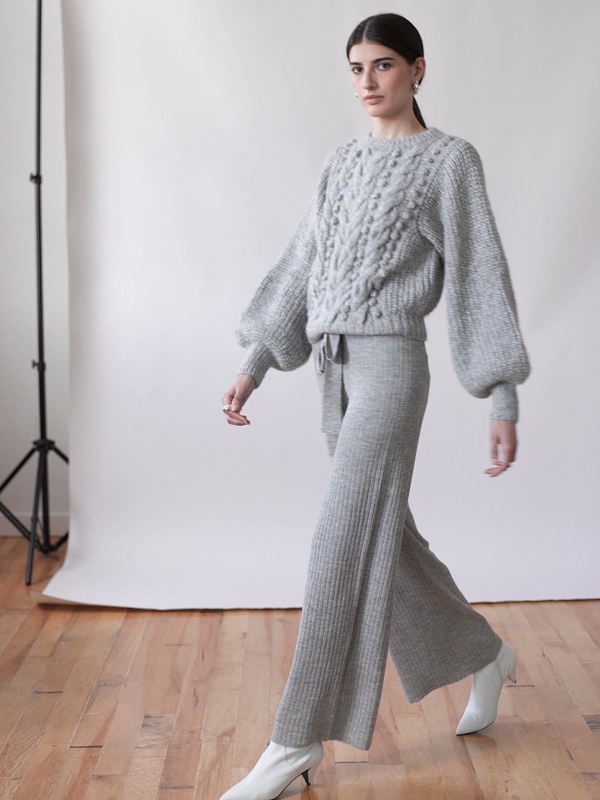 Charlotte Sweater | Pale Grey Melange Charlotte Sweater | Pale Grey Melange