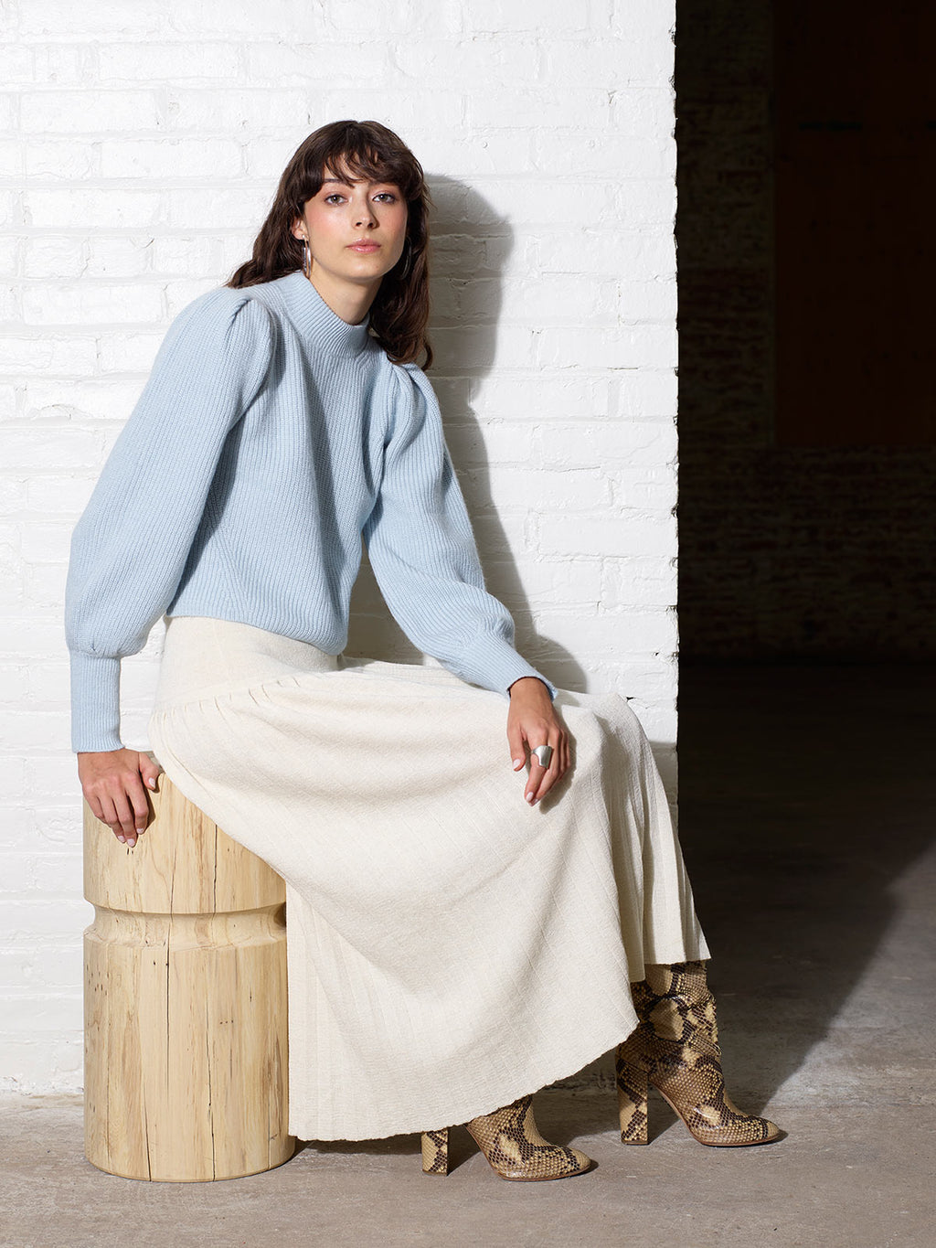 Mia Sweater | Powder Blue