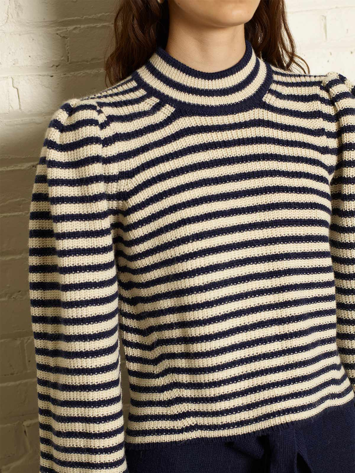 Mia Sweater | Ivory/Navy Stripe Mia Sweater | Ivory/Navy Stripe