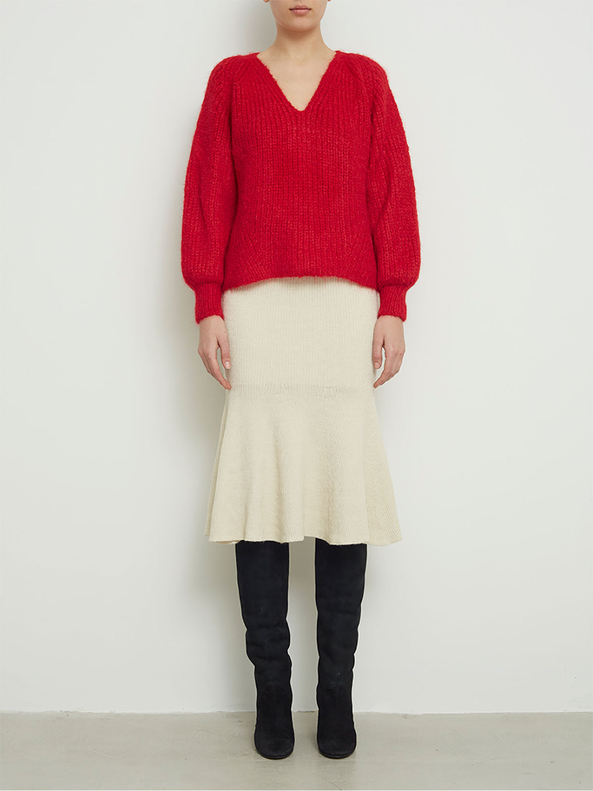 Tess Sweater | Persimmon Red