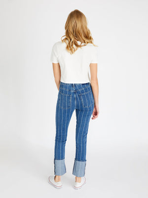 Finn Straight | Wide Indigo Stripe Finn Straight | Wide Indigo Stripe