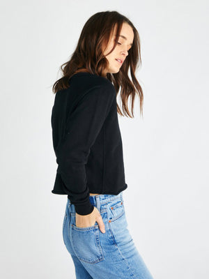 Yara French Terry Sweatshirt | Black Yara French Terry Sweatshirt | Black