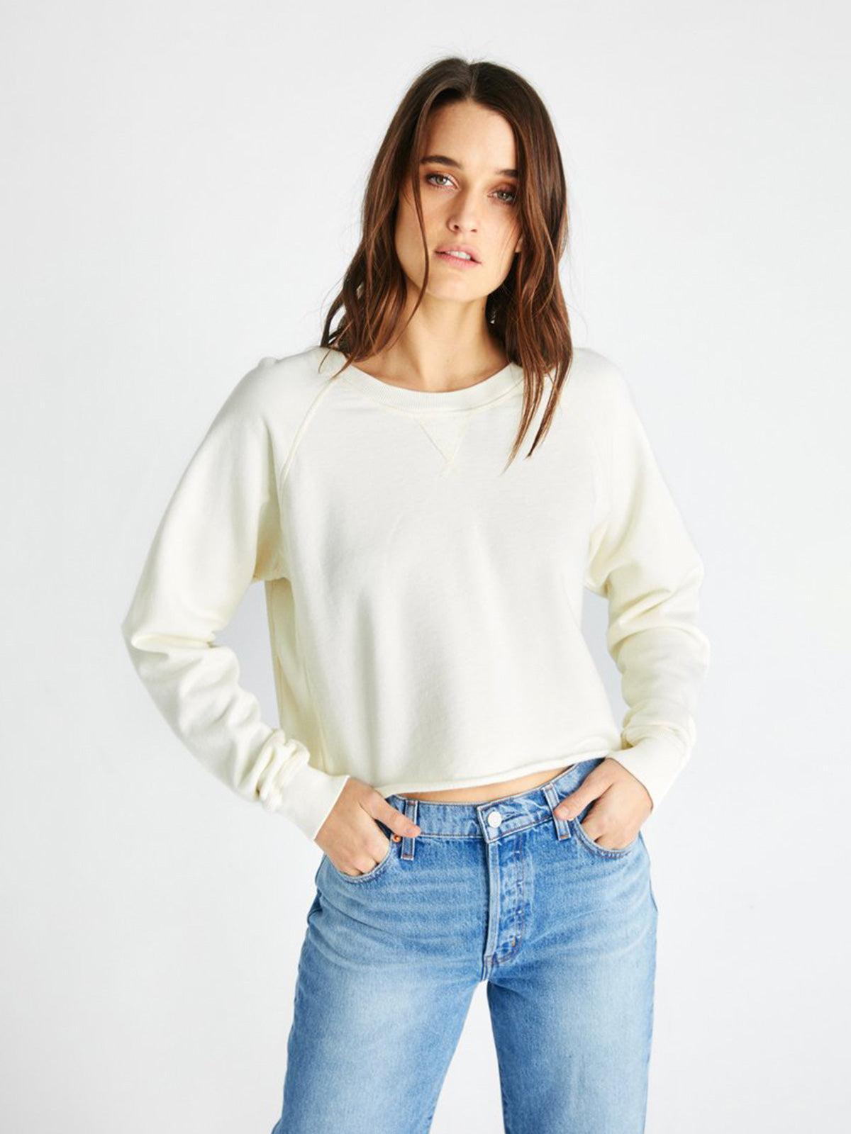 Yara French Terry Sweatshirt | Cream