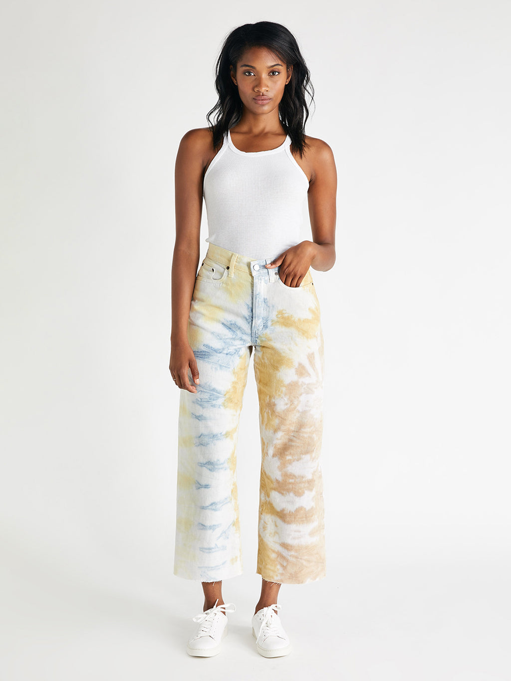 Devon Crop | Botanical Tie Dye