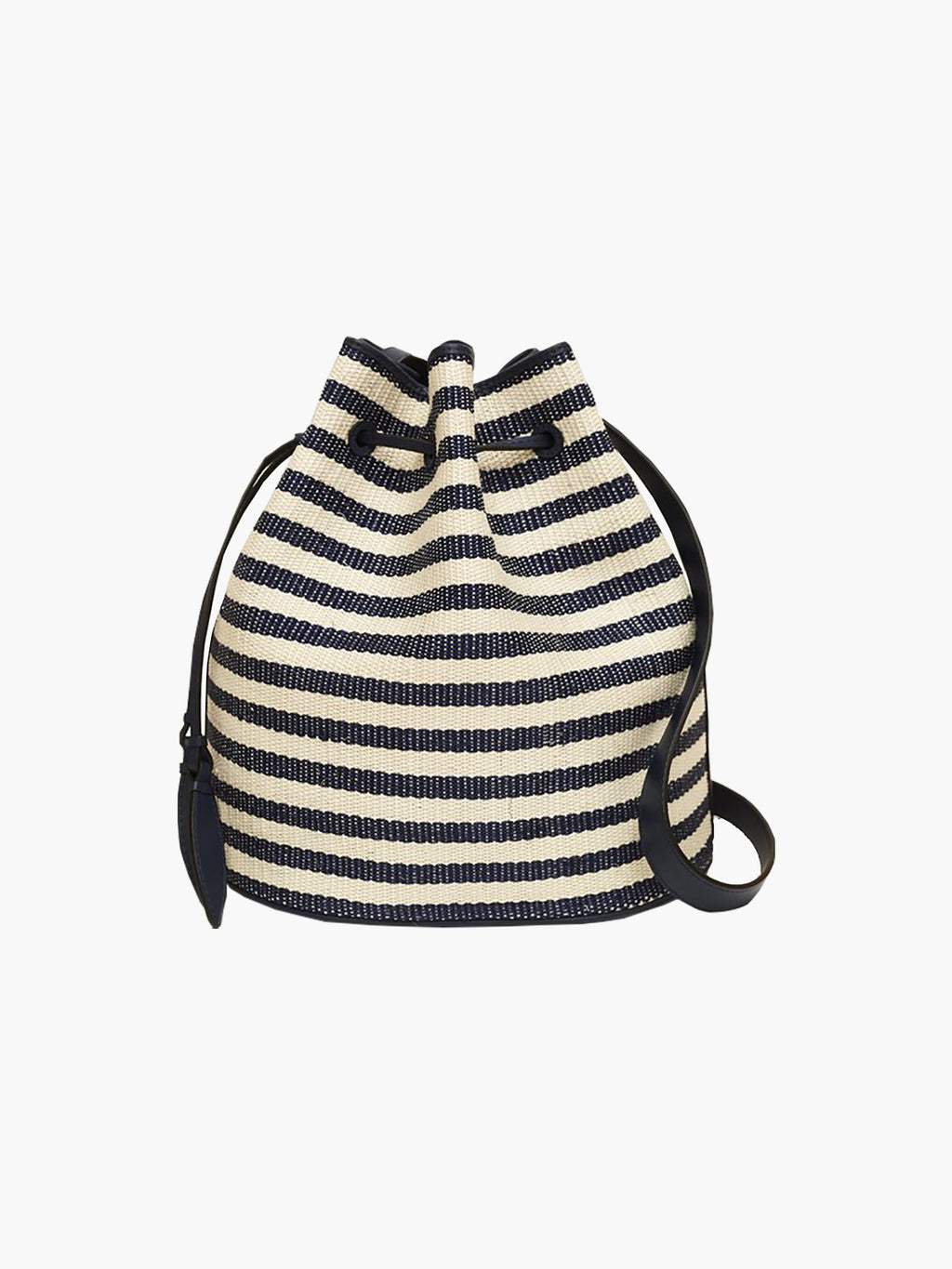 Extra Large Drawstring Bag | Navy Stripe