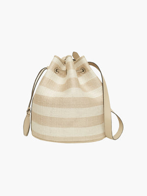 Extra Large Drawstring Bag | Oyster Stripe Extra Large Drawstring Bag | Oyster Stripe