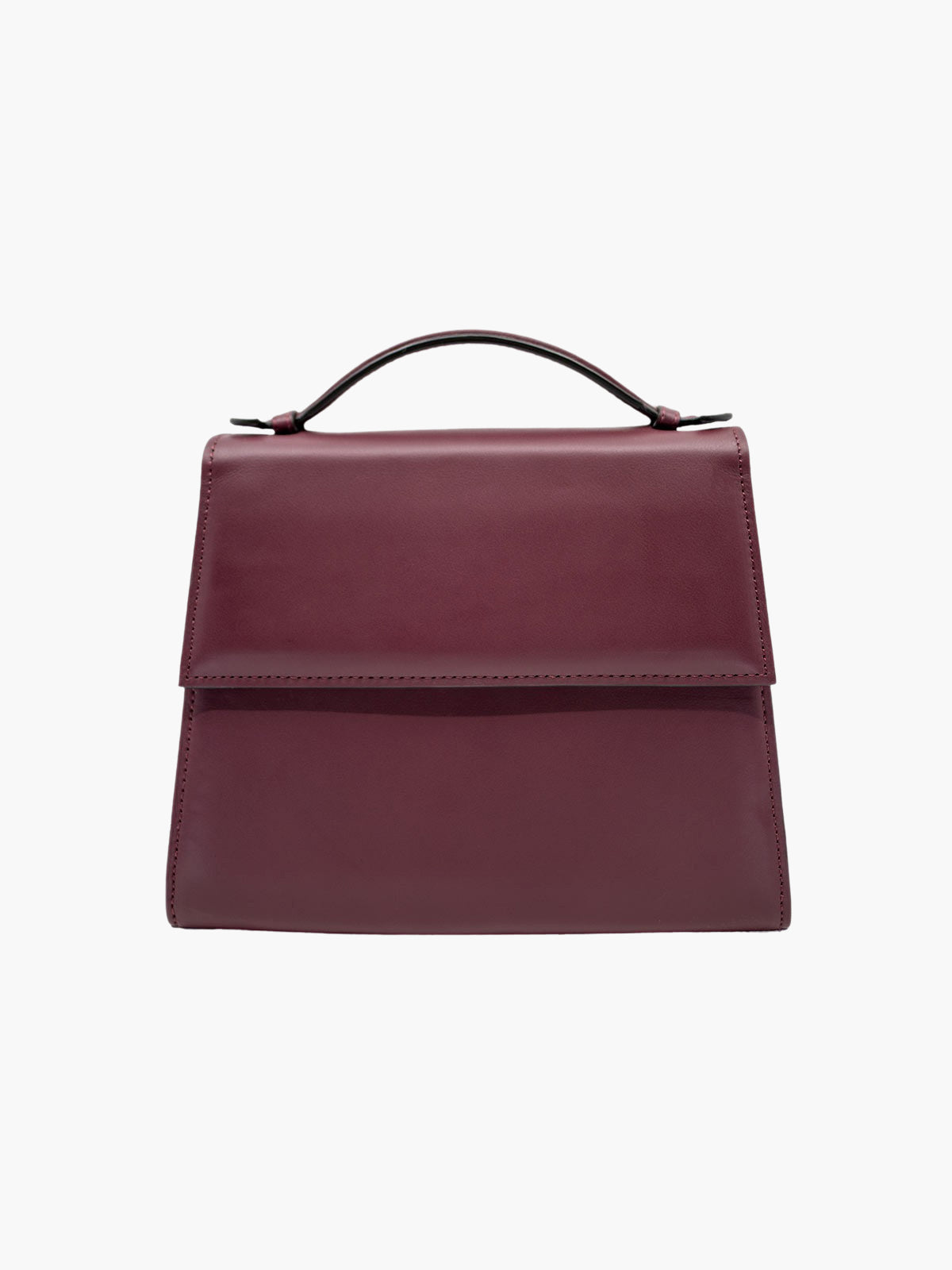 Medium Top Handle Bag | Burgundy