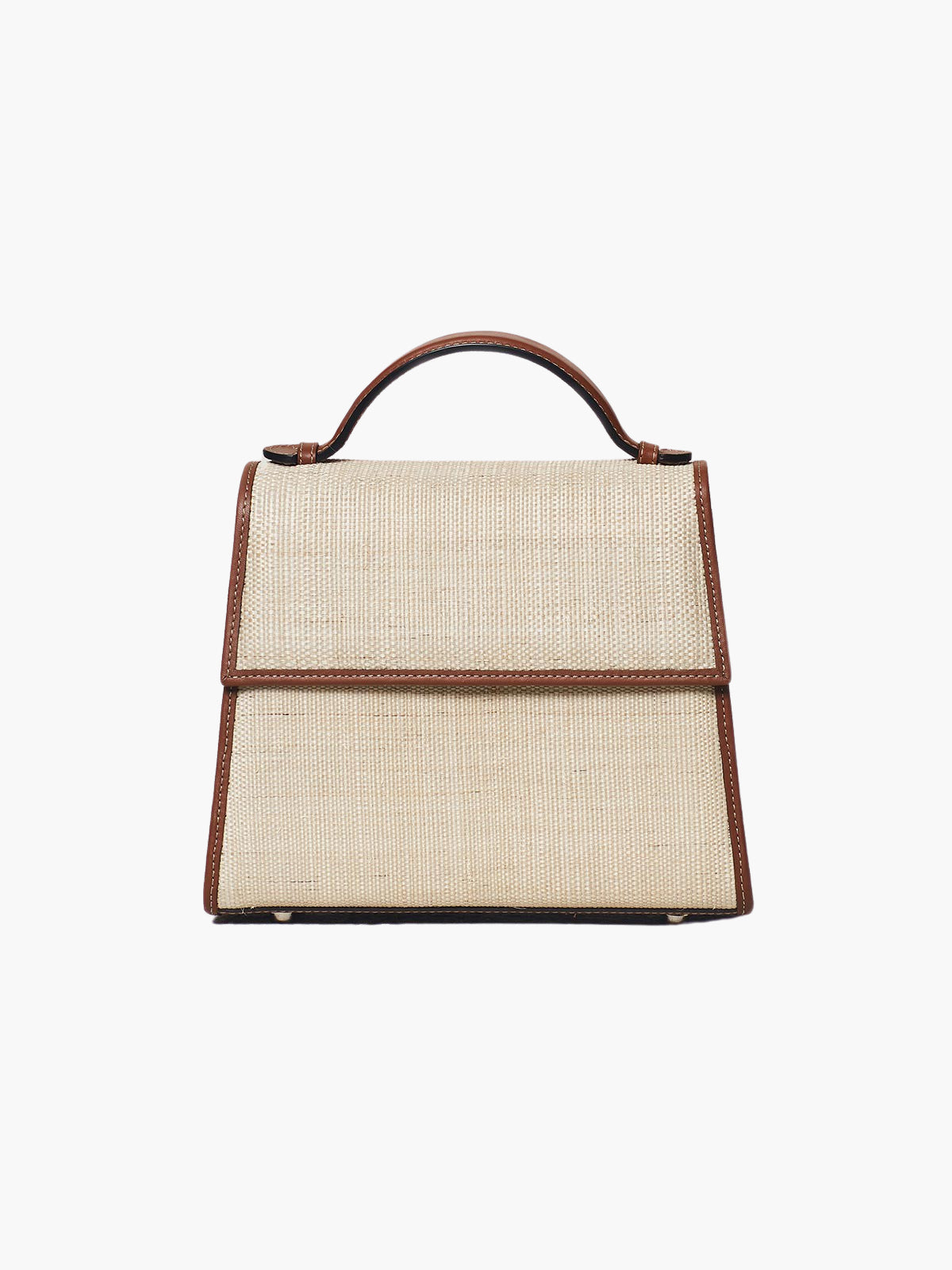 Medium Top Handle Bag | Cognac Woven
