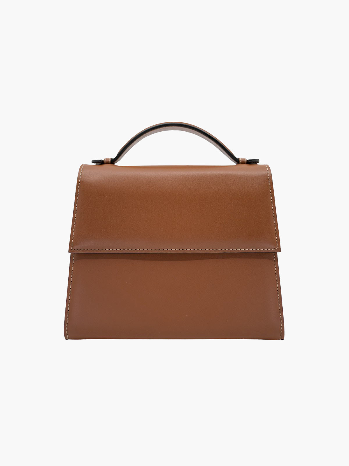 Medium Top Handle Bag | Cognac