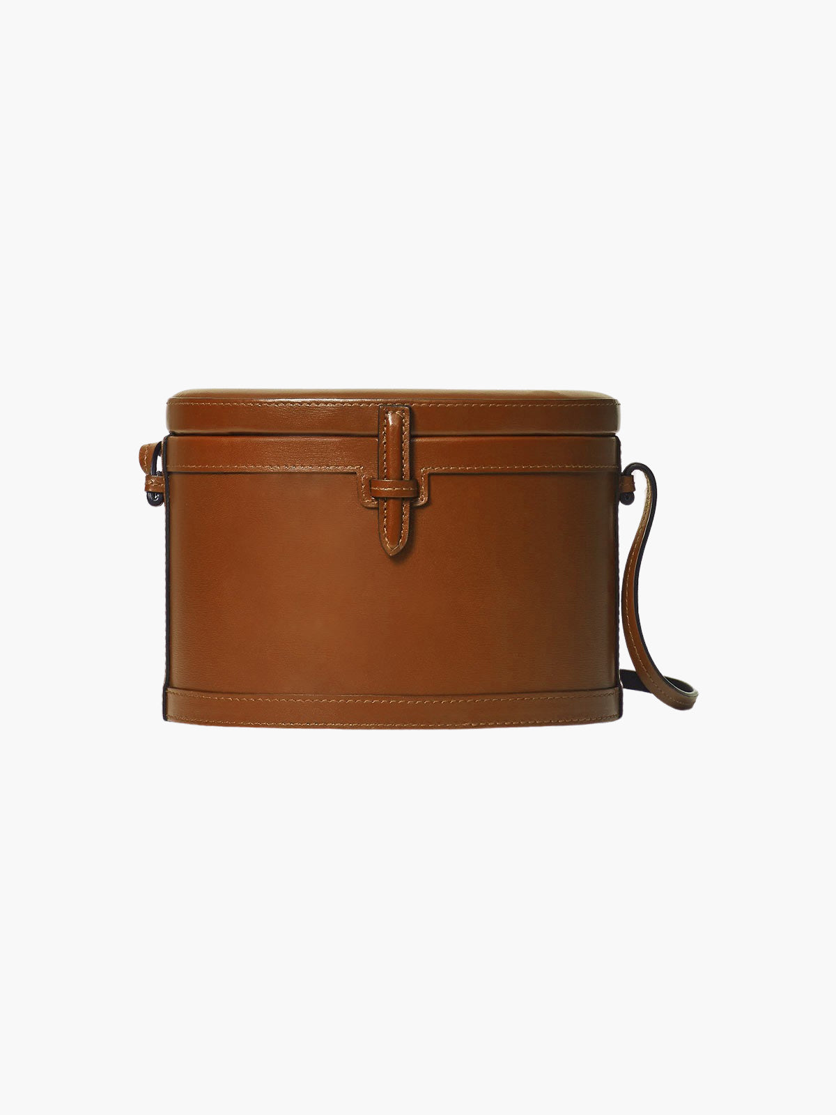 Round Trunk Bag | Cognac