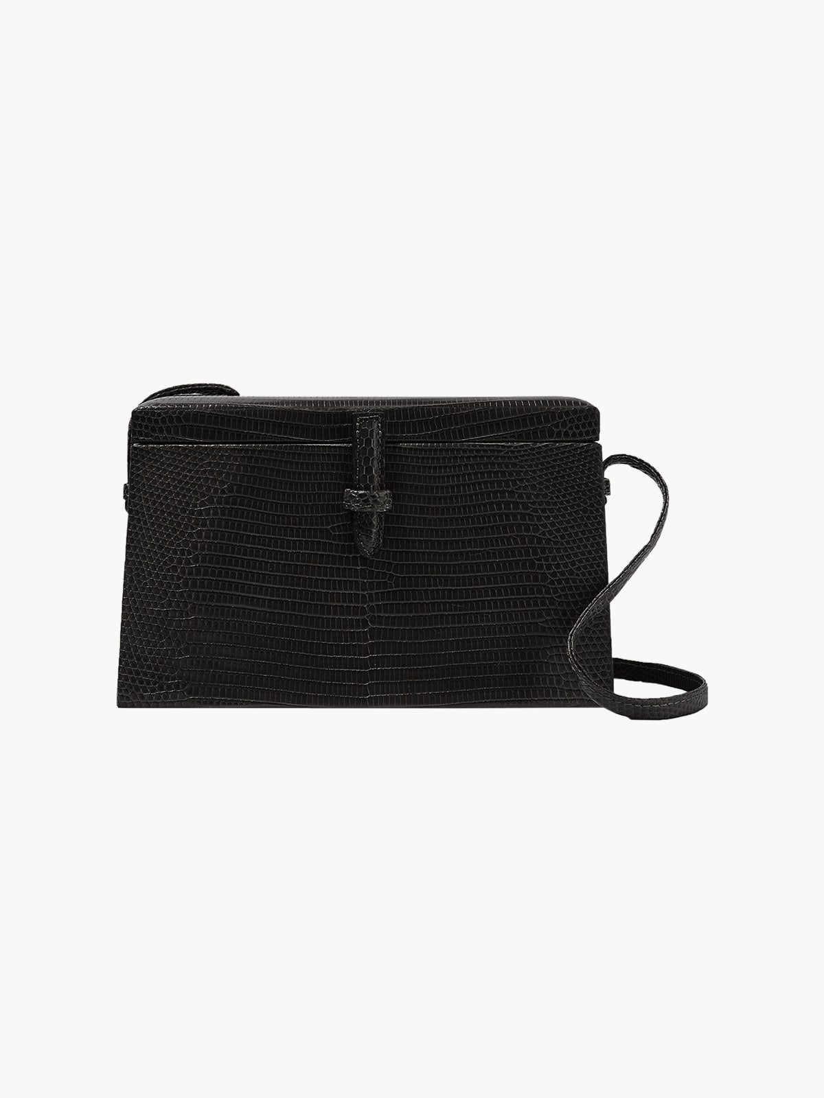 Square Trunk Bag | Black Lizard