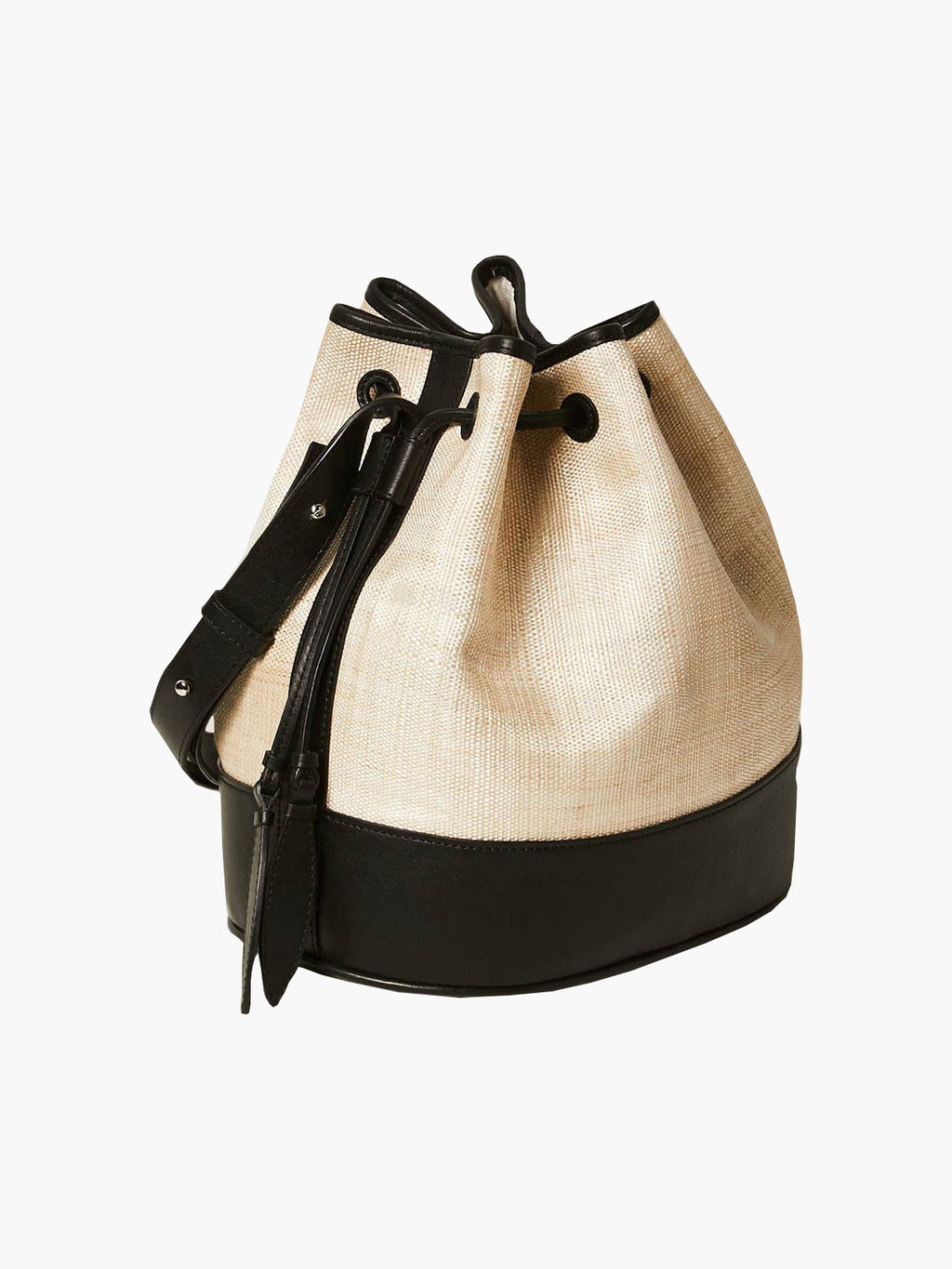 Large Drawstring | Banana Leaf Black