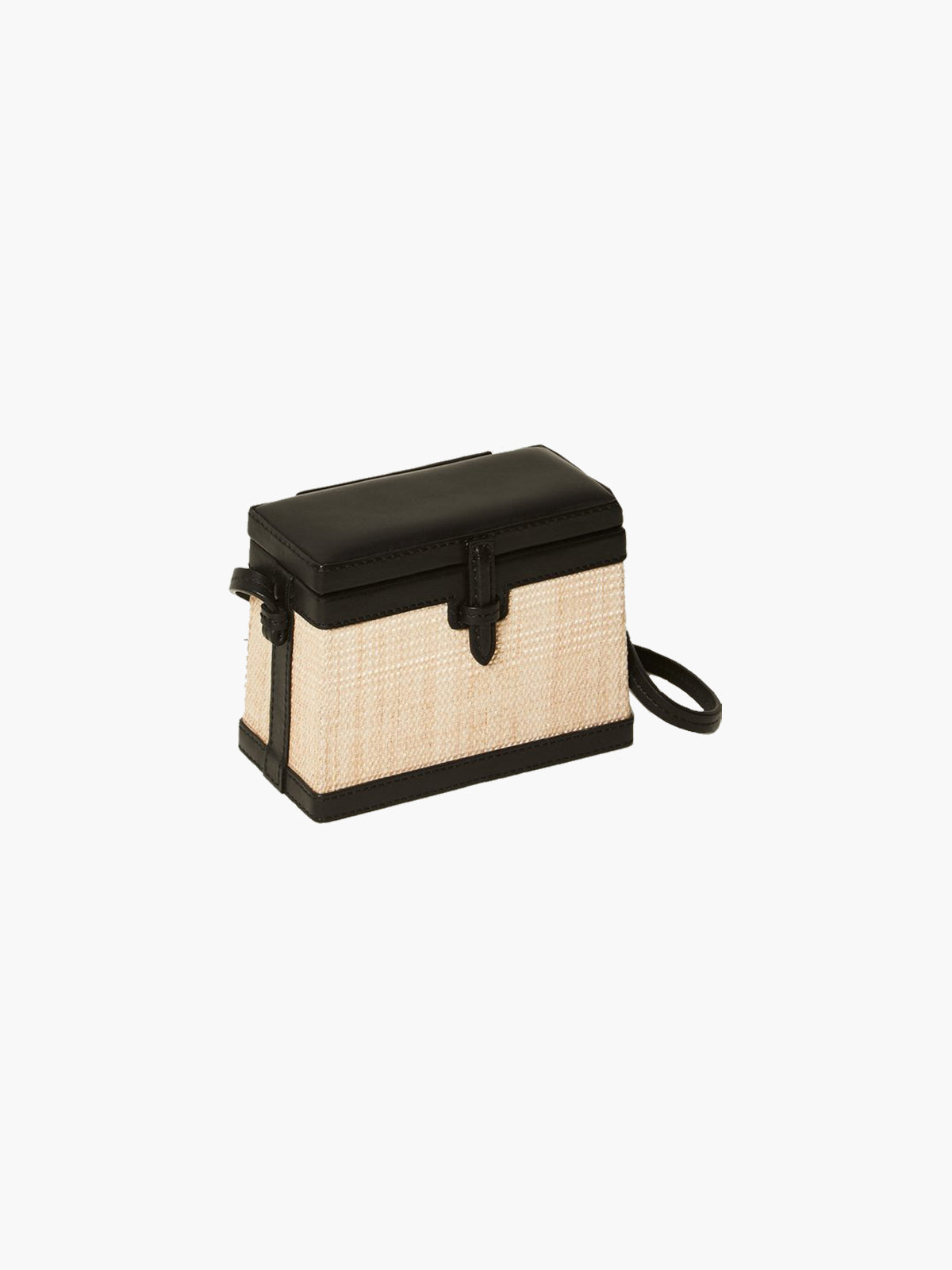 Mini Square Trunk | Banana Leaf Black