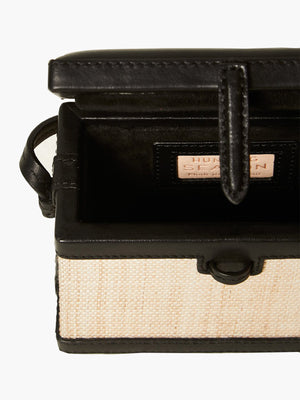 Mini Square Trunk | Banana Leaf Black Mini Square Trunk | Banana Leaf Black
