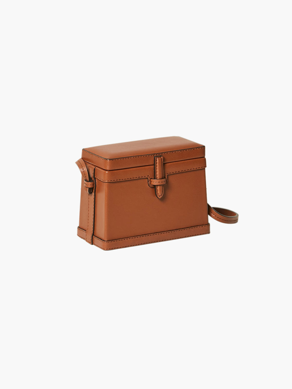 Mini Square Trunk | Cognac