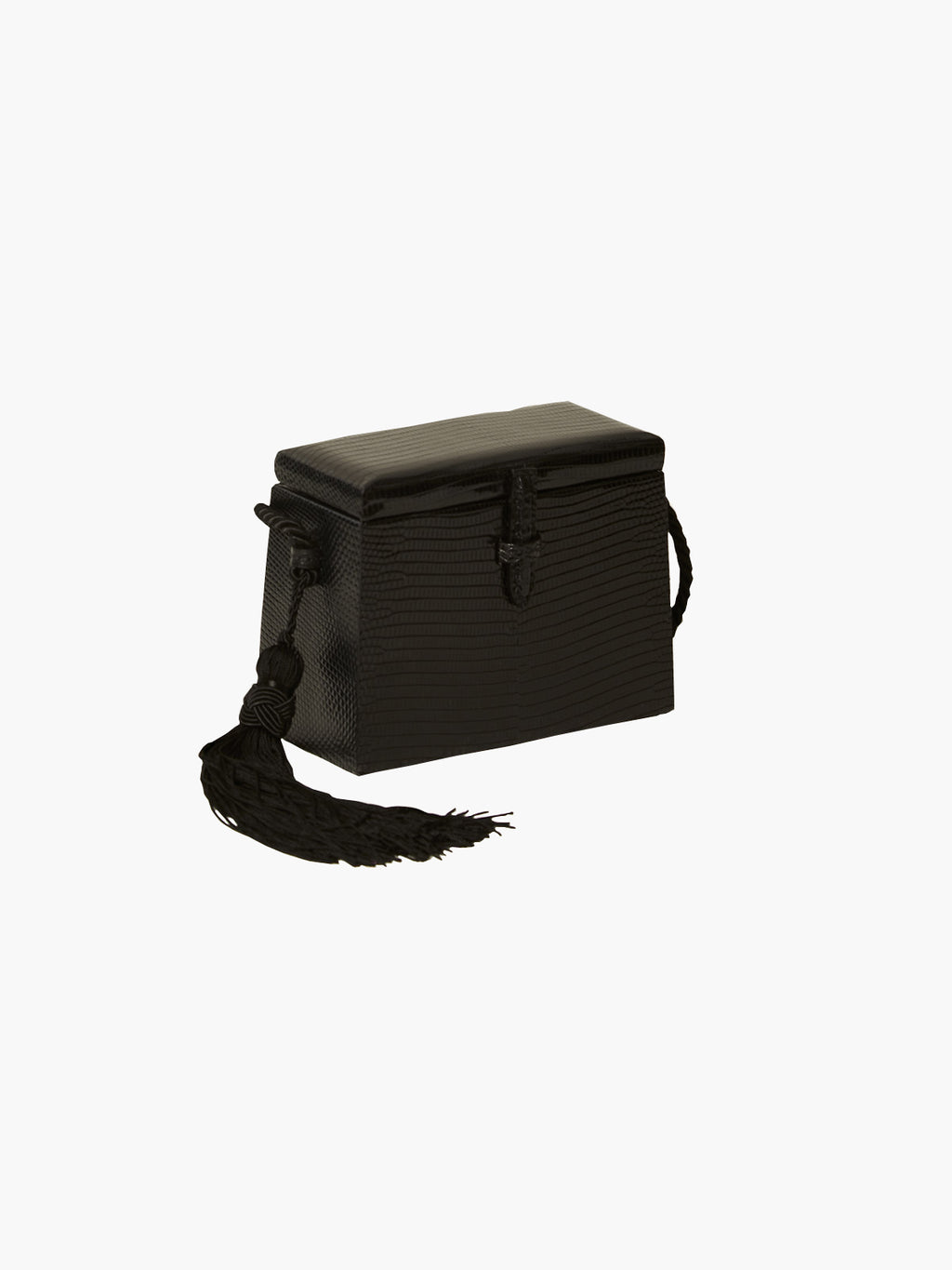 Mini Square Trunk With Tassels | Black