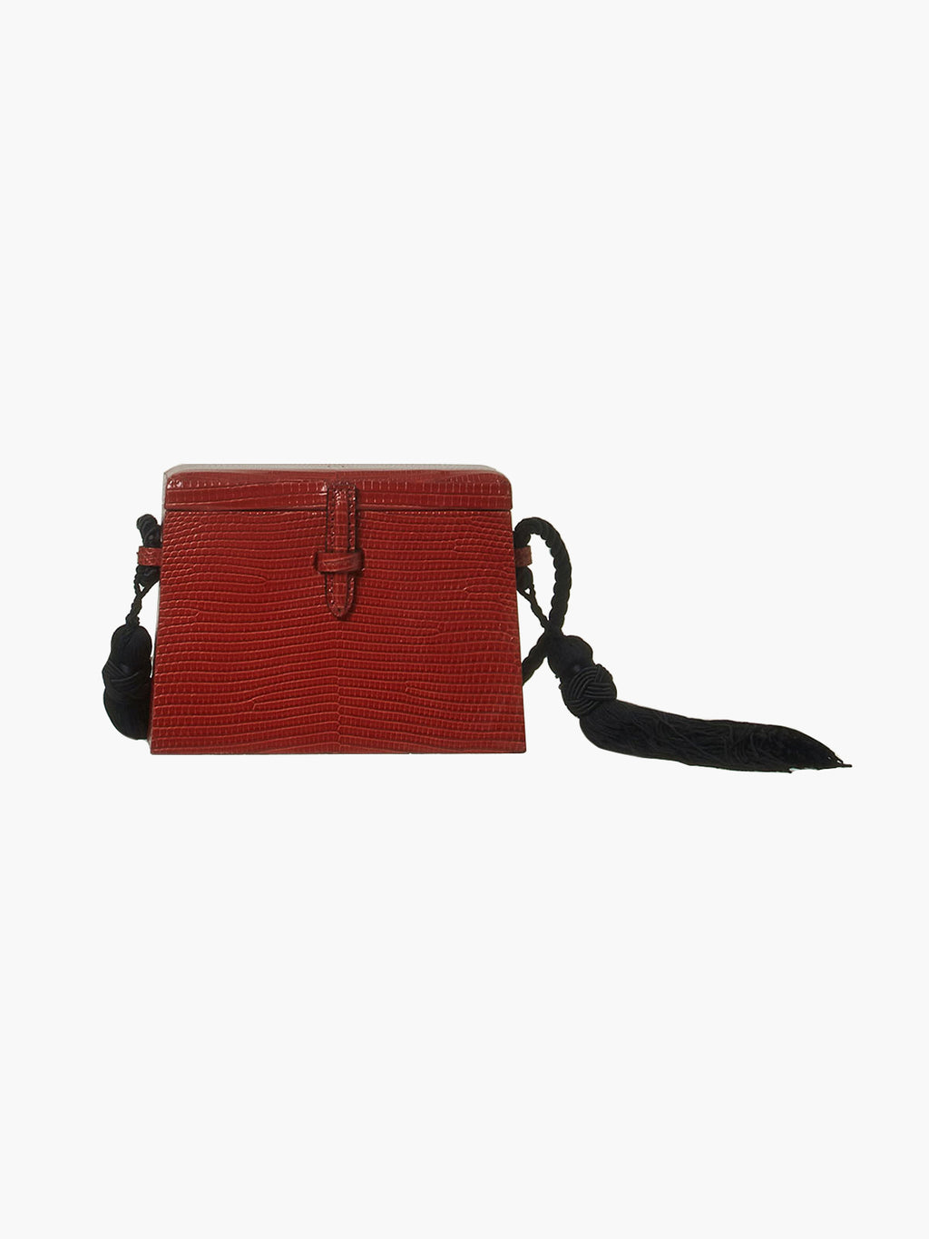 Mini Square Trunk With Tassels | Brick Red