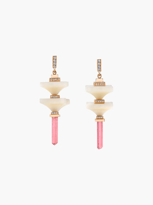 Art D'Eco Double Terminals Earrings