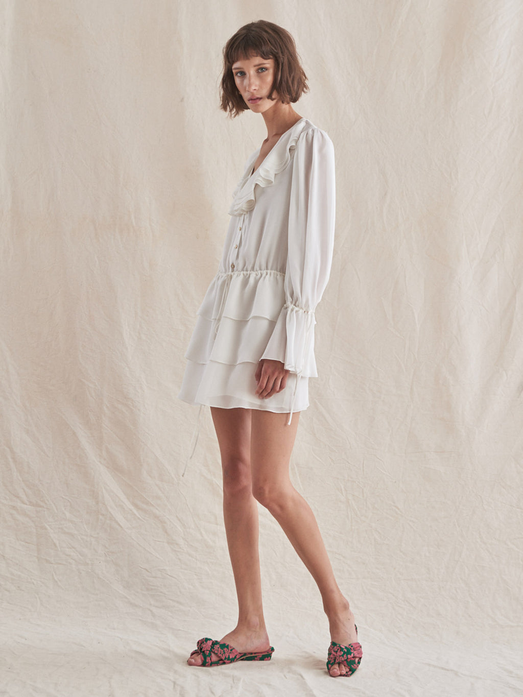 Leora Dress | White