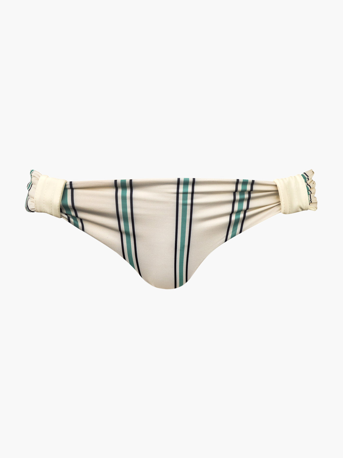 Maria Bottom | Aqua Stripes/Ivory