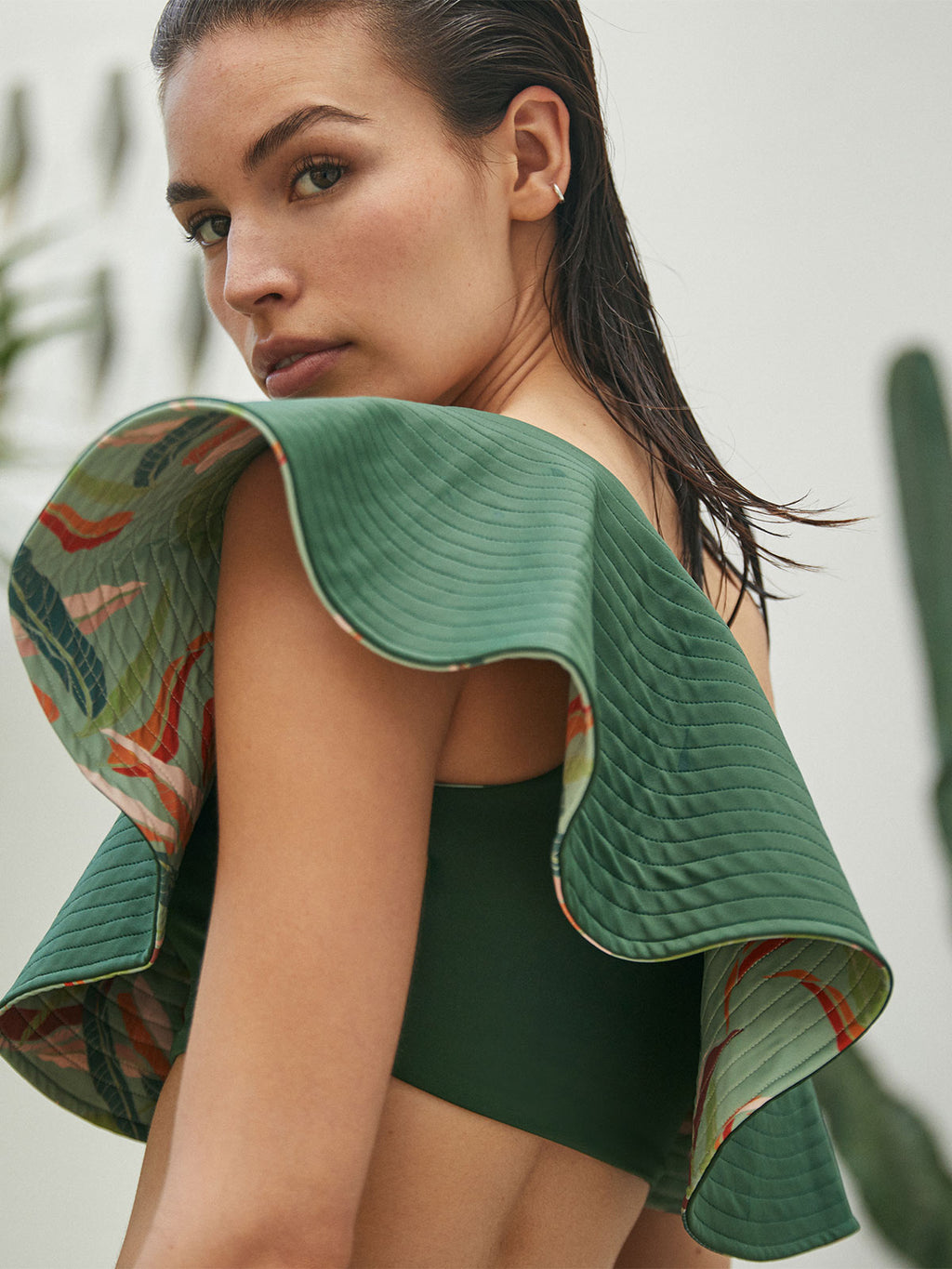 Sunset Waves Top | Green/Mint Mangos